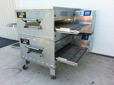 "Middleby Marshall Wow! Double Stack Gas Conveyor Ovens 32"" Belt Width Ps640"