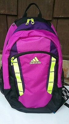 458aa99d93f7 ADIDAS EXCEL BACKPACK Xl ~ Nwt~Flash Pink rich Purple solar Yellow ...