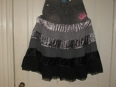 Girls Size 10 The Childrens Place Black Denim Modest Long Skirt With Tags