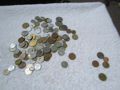 Lot of 100 assorted world foreign coins mixed bulk + 5 Euro coins # 5