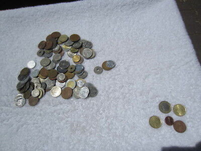 Lot of 100 assorted world foreign coins mixed bulk + 5 Euro coins # 6