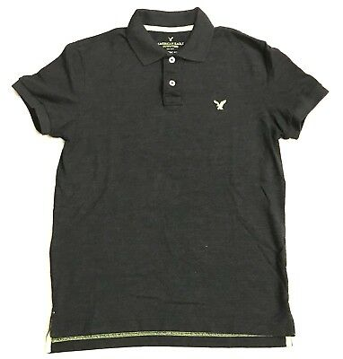 0006f0900 American Eagle Outfitters Classic fit mens size small Black   Green polo  shirt