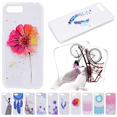 Printed Pattern Soft Clear Ultra Slim Case Cover for Sony Xperia XA2 L2 Huawei