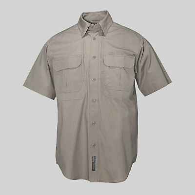 dadea55e05b 5.11 Tactical Mens Cotton Short Sleeve Shirt Size Large Style #71152 Khaki