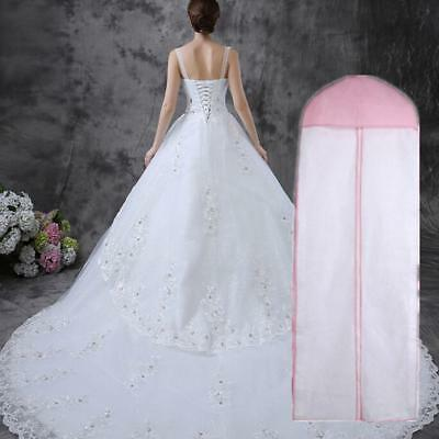 Wedding Dress Bridal Gown Garment Breathable Cover Storage Bag 180* 60cm White