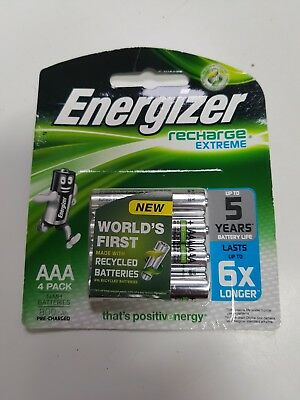 Energizer Recharge Extreme Aaa 4 Pack  Battery