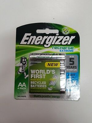 NEW Energizer Recharge Extreme AA Batteries 4 Pack
