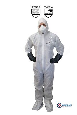 50 - White- SMS PPE Coveralls TYPE 5/6, Protective against Asbestos Removal