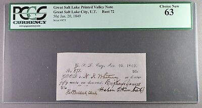 RARE 1849 Mormon Money Signed Brigham Young, Heber C Kimball, NK Whitney PCGS 63
