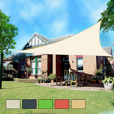 Outdoor Shade Sail Patio Suncreen Awning Garden Sun Canopy 98% UV Block New & OUTDOOR SHADE SAIL Patio Suncreen Awning Garden Sun Canopy 98% UV ...