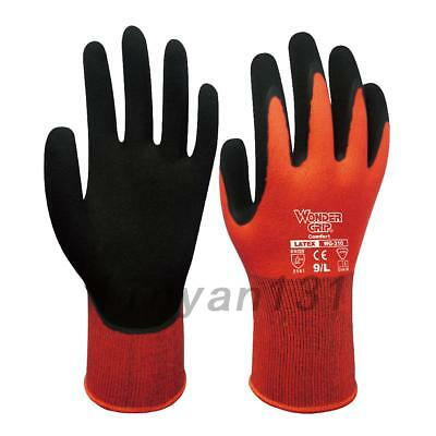 Top! Wonder Grip WG-310 EN388 Comfort Latex Non-slip Work Garden Gloves AU Local