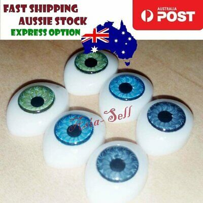 6pcs Oval Plastic Eyes 14x10mm 7mm Iris Reborn Dolls Green Blue Grey Doll