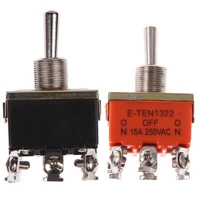 Toggle Switch 6Pin DPDT 3 Position Momentary (ON)-OFF-(ON)  Waterproof cap HOT!