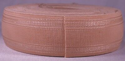 """692g roll of 2"""" inch light pink woven elastic (dirty old stock & segmented)"""