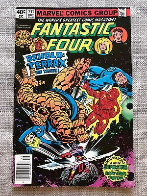 Fantastic Four #211 (1979) First Appearance of Terrax Marvel