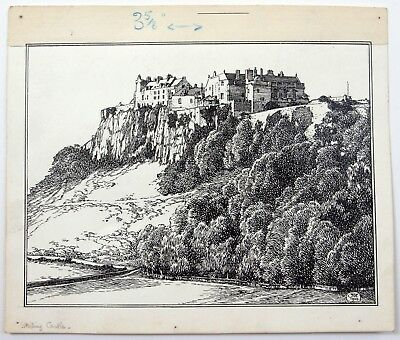 Jenny Wylie (XIX-XX) Ink drawing for Blackie and Son, Glasgow. Stirling Castle.