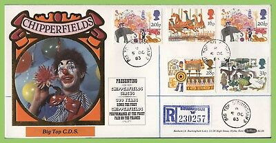 G.B. 1983 British Fairs set on Benham First Day Cover, Big Top Birmingham cds