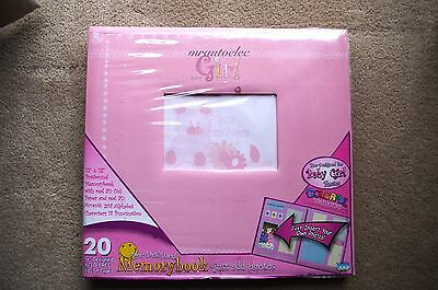 Colorful Memories Pre-Designed Baby Girl Memory Book - Just add Photos Acid Free