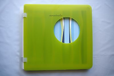 Creative Memories Lime Green Techno 7x7 Album Coverset WITH PAGES