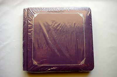 Creative Memories Purple 7x7 Album Coverset WITH PAGES with Silver foil Border