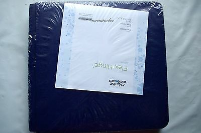 Creative Memories Sapphire Blue 8x8 Flex hinge Album / Coverset BNIP