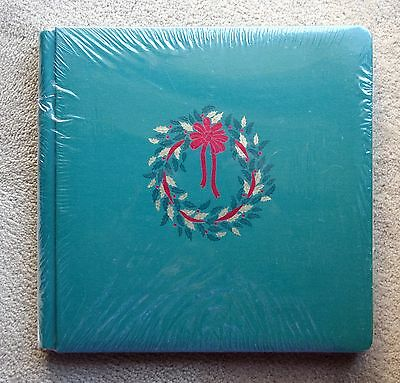 Creative Memories Green Christmas Wreath Original 12x12 Album WITH WHITE PAGES