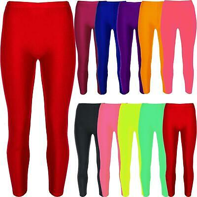 Kids Girls Gymnastic Shiny Dance Leggings Ballet Stretch Elasticated Childrens
