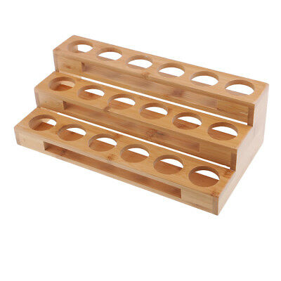 Essential Oil Storage Wooden Rack Holds 18 Bottles Organizer Makeup Case