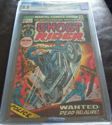 Ghost Rider #1 (1St Ghost Rider In His Own Title) Huge Mega Key Issue Grade 8.0!