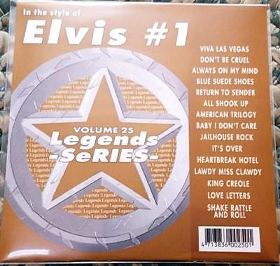 Legends Karaoke Cdg Elvis #25 Oldies Rock 15 Songs Cd+G Viva Las Vegas