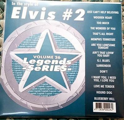 Legends Karaoke Cdg Elvis #26 Oldies Rock 15 Songs Cd+G Hound Dog,Blueberry Hill