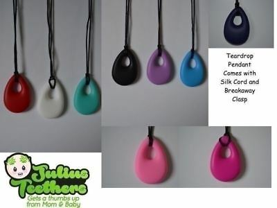 Teardrop Pendant Baby Teething Silicone Autism Sensory Chewelry UK Supplier
