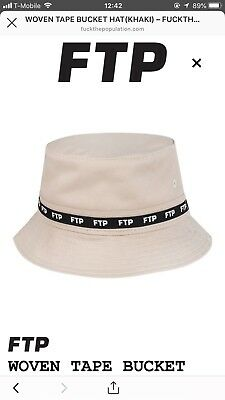 1e21dd372a8db FTP WOVEN TAPE Bucket Hat. Black. Size S M. Brand New - £60.00 ...