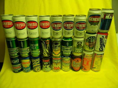 26 Diff. Genesee Beer Cream Ale Ice Bock Light Dundee's Cans Rochester New York