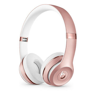 Beats Solo3 Wireless On-Ear Headphones Gold Matte White Silver Black Red Rose
