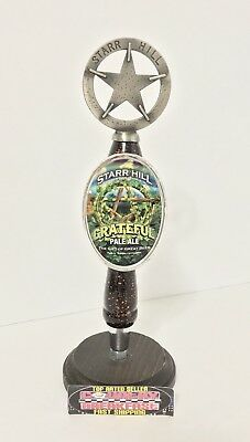 "Star Hill Brewery Grateful Pale Ale Pub Beer Tap Handle 10"" Tall - Excellent!!"