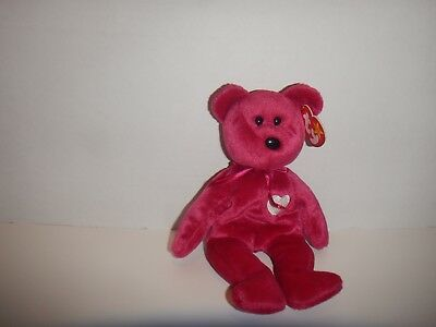 Ty Beanie Baby Valentina Bear 1999 Excellent Condition