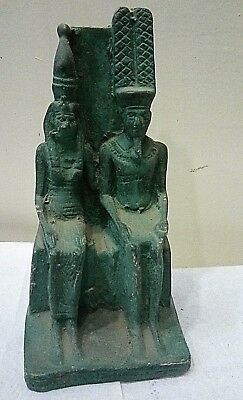 Rare Ancient Egyptian Antique Ramses Ii And Nefertari Queen Statue 1279-1221 Bce