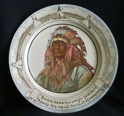 Royal Doulton scarce old seriesware Native American Indian Hiawatha plate D3044?