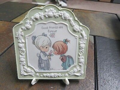 Precious Moments Plaque Friends 1994 Good Friends Are Forever 129984 With Stand