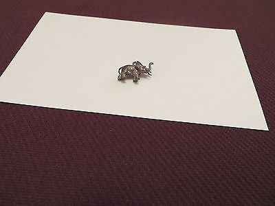 Elephant Charm - Pendant - Sivertone Metal - 3/4 of an Inch Long