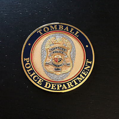 A1 TOMBALL TEXAS Police Department Challenge Coin