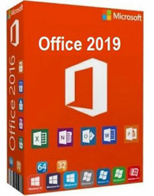 Microsoft Office 2019 Professional Plus MS PRO 2016 Windows PC - Lifetime Key