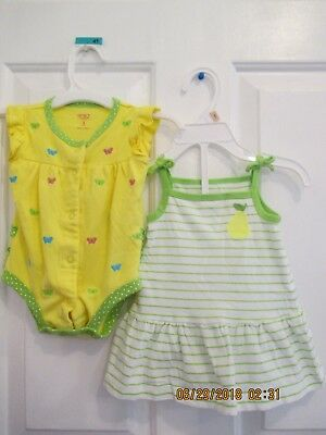 161bd0f6a BABY GIRLS CARTERS size 3 months one piece and two piece outfits ...