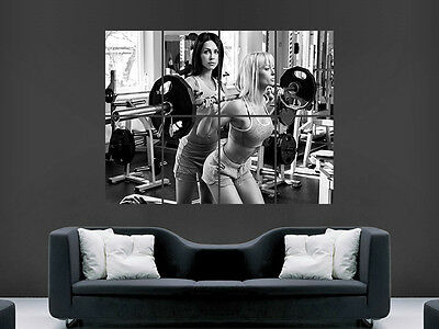 Weightlifting Poster Sexy Girls Hot  Wall Art Gym Fitness Weights  Image Giant