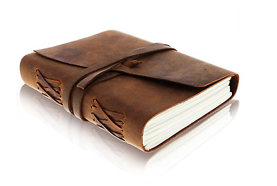 Antique Vintage Retro Handmade Leather Travel Diary Planner Organiser Notebook