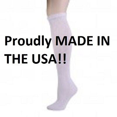 WHITE DIABETIC SOCKS OVER THE CALF PHYSICIANS CHOICE SIZE 13-15   3 to 12 Pair