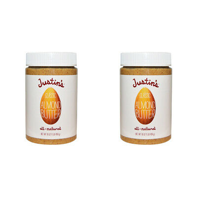 2X Justin's Nut Butter Classic Almond Gluten Free Vegan Natural Protein Source