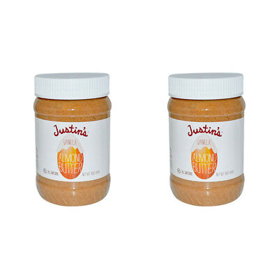 2X Justin's Nut Butter Vanilla Almond Gluten Free Vegan Natural Protein Source