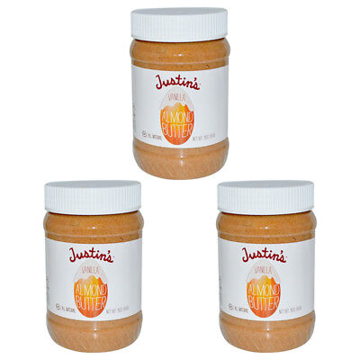 3X Justin's Nut Butter Vanilla Almond Gluten Free Vegan Natural Protein Source